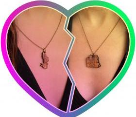 Friends 4 Eva necklace duo